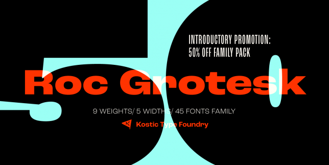 Roc Grotesk (Kostic Type Foundry)
