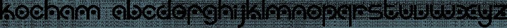 Kocham font family by Intellecta Design