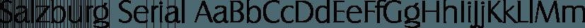 Salzburg Serial font family by SoftMaker