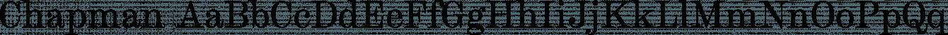 Chapman font family by JTD