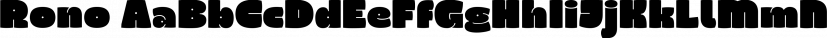 Rono font family by JC Design Studio