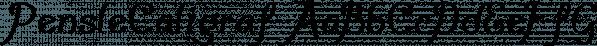 PensleCaligraf font family by Ingrimayne Type