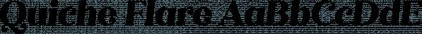 Quiche Flare font family by Adam Ladd