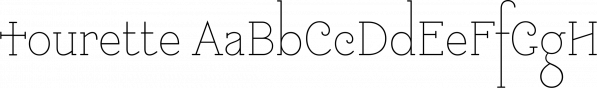 Tourette font family by Barnbrook Fonts