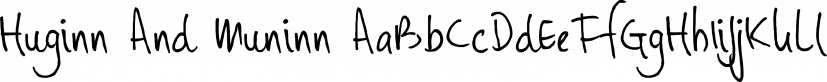 Huginn And Muninn font family by Hanoded