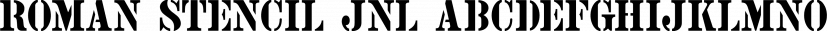 Roman Stencil JNL font family by Jeff Levine Fonts