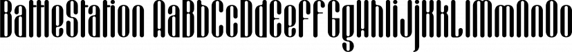 BattleStation font family by Fonthead Design