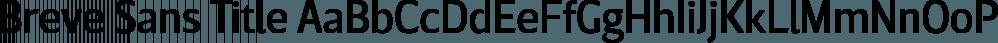 Breve Sans Title font family by DSType