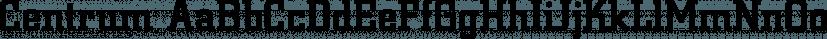 Centrum font family by FontSite Inc.