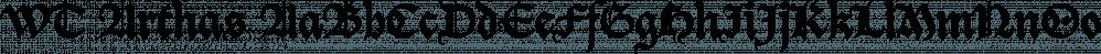 WT Arthas font family by Wraith Types