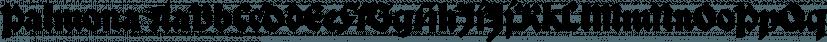 Palmona font family by ingoFonts