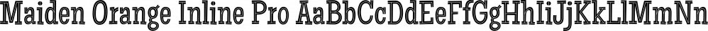 Maiden Orange Inline Pro font family by Stiggy & Sands