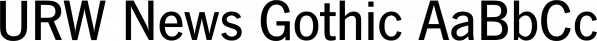 URW News Gothic font family by URW Type Foundry
