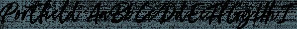 Portfield font family by Set Sail Studios