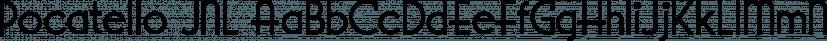 Pocatello JNL font family by Jeff Levine Fonts
