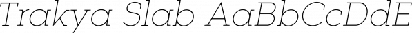 Trakya Slab font family by Bülent Yüksel