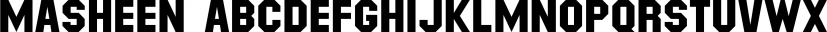 Masheen font family by Ingrimayne Type