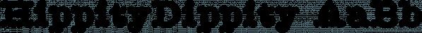 HippityDippity font family by Ingrimayne Type