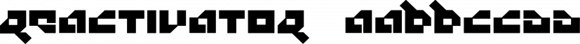 Reactivator™ font family by MINDCANDY