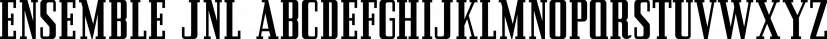 Ensemble JNL font family by Jeff Levine Fonts