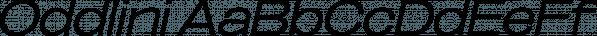 Oddlini font family by sugargliderz