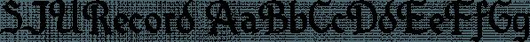 SJURecord font family by Ingrimayne Type