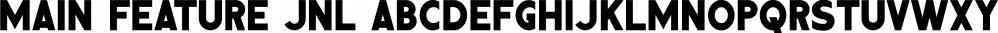 Main Feature JNL font family by Jeff Levine Fonts