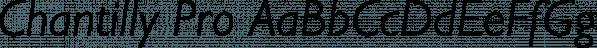 Chantilly Pro font family by SoftMaker