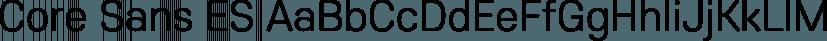 Core Sans ES font family by S-Core