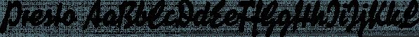 Presto font family by Fust & Friends