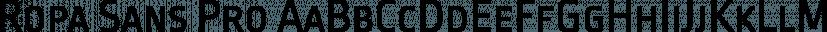 Ropa Sans Pro font family by Lettersoup