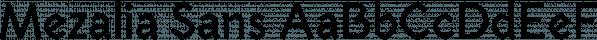 Mezalia Sans font family by Arrière-garde
