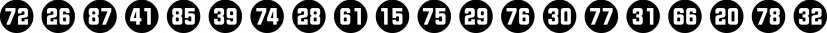 Numbers Style Two font family by Gerald Gallo Fonts