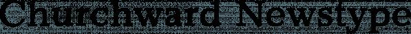 Churchward Newstype font family by BluHead Studio