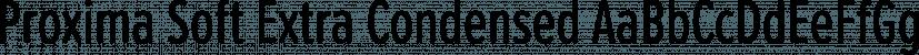 Proxima Soft Extra Condensed font family by Mark Simonson Studio