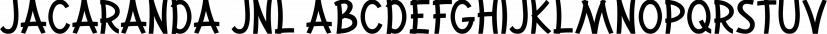 Jacaranda JNL font family by Jeff Levine Fonts