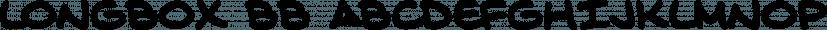 Longbox BB font family by Blambot