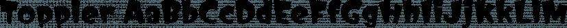 Toppler font family by K-Type