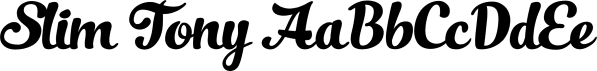 Slim Tony font family by Fenotype