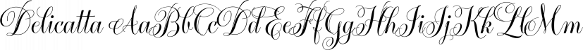 Delicatta font family by dooType