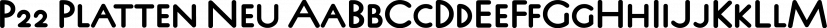 P22 Platten Neu font family by International House of Fonts