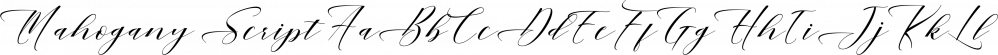 Mahogany Script font family by Area Type Studio