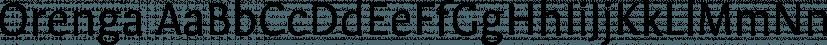 Orenga font family by Tipografies