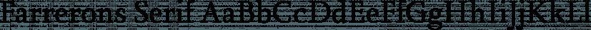 Farrerons Serif font family by Tipo Pépel