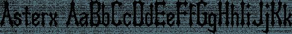 Asterx font family by Ingrimayne Type