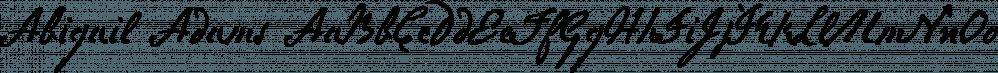 Abigail Adams font family by Three Islands Press