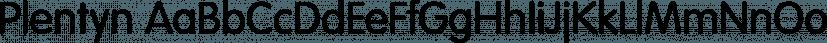 Plentyn font family by FontPeople