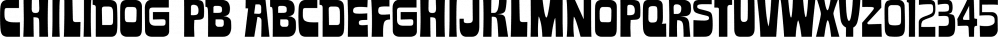 Chilidog PB font family by Pink Broccoli