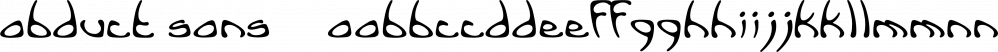 Abduct Sans™ font family by MINDCANDY