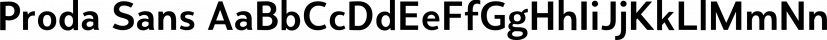 Proda Sans font family by Nasir Udin